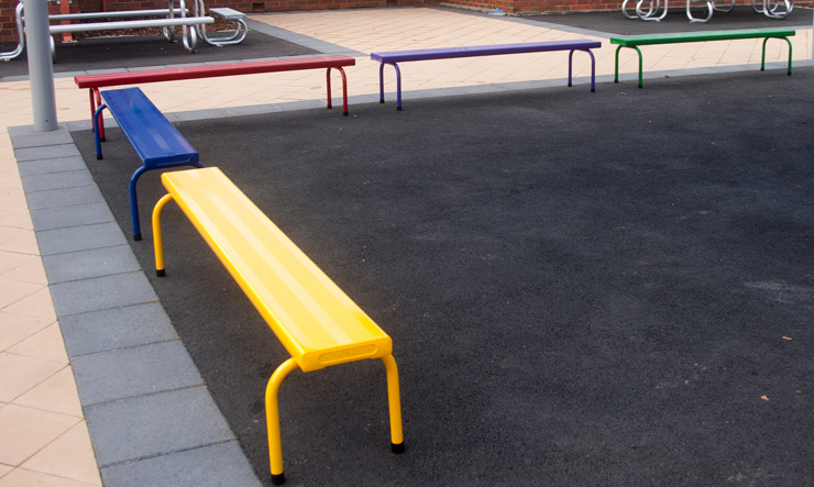 Multi Coloured Stackable Benches