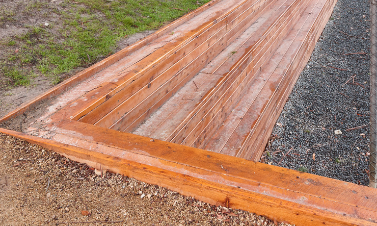 In Ground Timber Seating